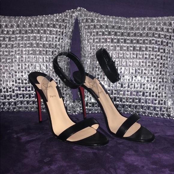17d8f341e5e Christian Louboutin Shoes - Christian Louboutin Jonatina 85 PVC leather  sandal